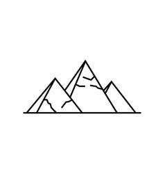 pyramids icon simple of pyramids vector image