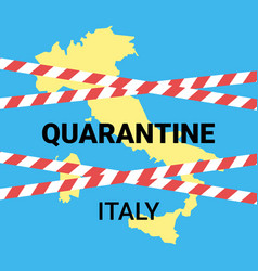Quarantine italy in country epidemic coronavirus vector