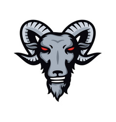 ram goat sheep head mascot logo vector image