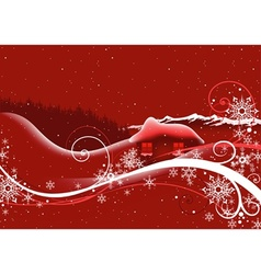 Red Abstract Christmas vector image