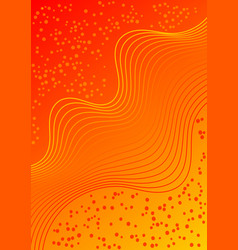 red and orange gradient background with wavy vector image