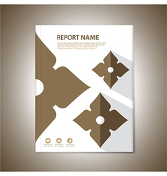 Report Cover thai2 vector image