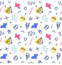 retro memphis seamless pattern 80-90s style vector image