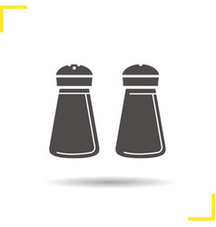 Salt and pepper shakers icon vector