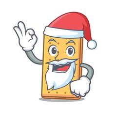Santa graham cookies mascot cartoon vector