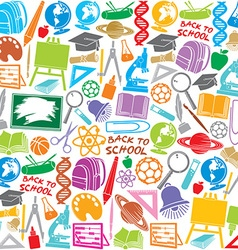 school icons seamless pattern vector image
