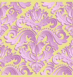 Seamless oriental pattern with 3d elements vector