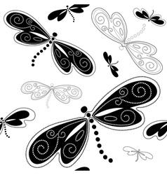 Seamless white pattern vector