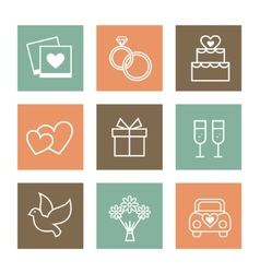 set valentines day and vector image