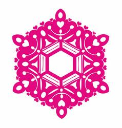snowflake love vector image