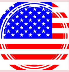Staggered stars and stripes vector