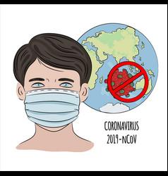 Stop ncov coronavirus health earth human epidemic vector
