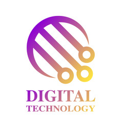 Technology logo template digital technology vector