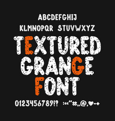 textured grunge font vector image