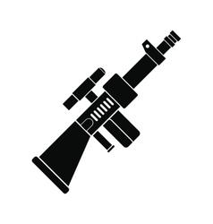 Toy gun black simple icon vector