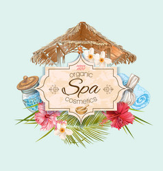 Tropic style spa banner vector