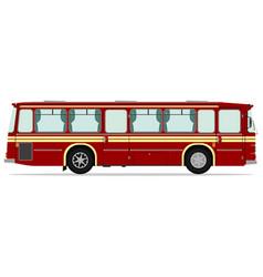 vintage bus vector image