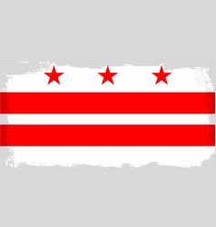 washington dc city flag vector image