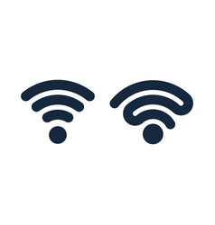 wifi icons design isolated vector image