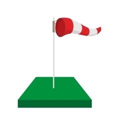 Windsock on golf course cartoon icon vector