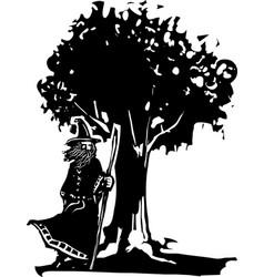 wizard ad tree vector image