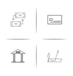 banking finance and money simple linear icon vector image vector image