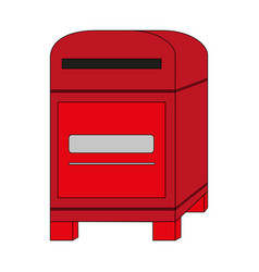 color image cartoon post office box vector image
