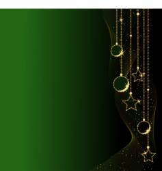 elegant christmas balls and stars vector image vector image