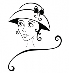 lovely girl in a hat vector image