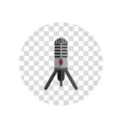 Microphone Design Flat Isolated vector image vector image