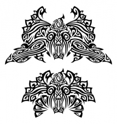 tattoo with birds vector image vector image