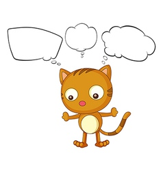 A young cat with empty thoughts vector image vector image