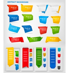 big collection of colorful origami paper banners vector image