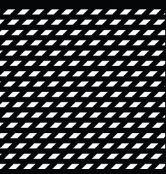 black and white diamond shape modern geometric vector image vector image