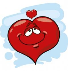 heart in love cartoon vector image vector image