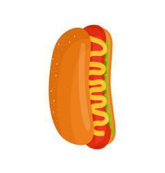 hot dog isolated flat cartoon vector image