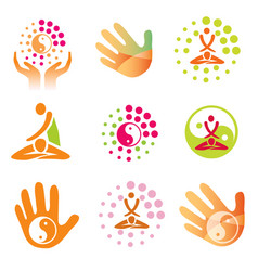 icons massage health spa vector image vector image
