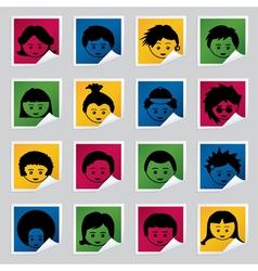kids labels vector image vector image