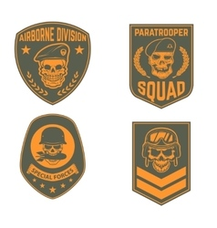 Set of military emblems templates Skull in vector image