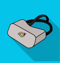 virtual reality glasses icon in flate style vector image vector image
