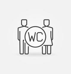 wc line icon vector image vector image