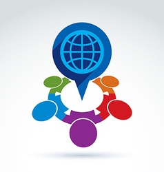 Colorful of an international meeting Speech vector image