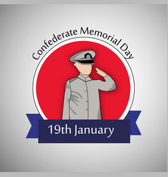 confederate memorial day vector image