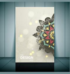 Fashion brochure flyer magazine cover vector image