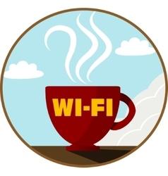 Free Wi-Fi zone icon vector image