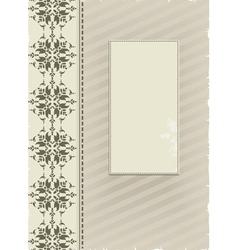 gray ornamental background vector image vector image