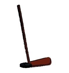 hockey game stick sketch vector image