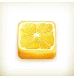 Lemon app icon vector image vector image