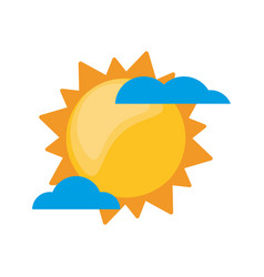 sun clouds weather image vector image vector image
