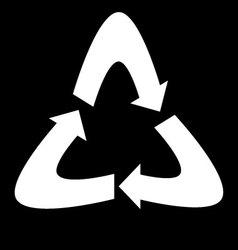 Symbol label recycling vector image vector image